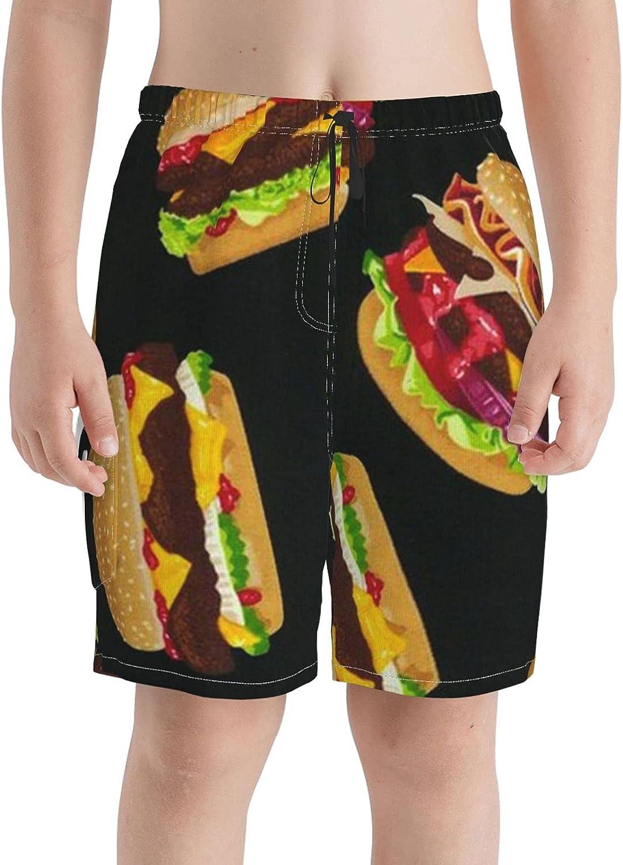 Neddelo Sales for sale Beef Hamburger Boys Swim Trunks Boardshorts New arrival Teens Beach