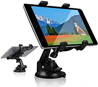 Car Tablet iPad Holder Mount, Suction Cup Tablet Holder Stand for Car Windshield Dash Desk Kitchen Wall Compatible with iP...