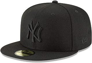 New Era 59Fifty Hat MLB Basic New York Yankees Black/Black Fitted Baseball Cap