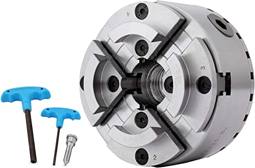 new arrival findmall discount discount 4 Inch 4 Jaws Self Centering Wood Lathe Chuck Wood Working Lathe Chuck Turning Tool with 1-8TPI Thread online sale