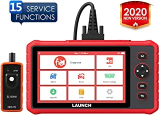 LAUNCH CRP909X Scan Tool OBD2 Scanner Full System Automotive Diagnostic Tool 15 Reset Functions Oil Reset, EPB, BMS, SAS, DPF, ABS Bleeding TPMS Auto VIN One-Click Update, EL-50448 Tool as Gift