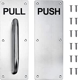 Stainess Steel Door Handle Pull and Push Plate Include Screws