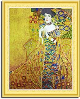 MTinHD 16x20 inch 5D Diamond Painting Kits for Adults Diamonds Art Paint by Number, Adele by Gustav Klimt