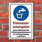 WERBEPUNKT. Schild Trinkwasserschutzgebiet Trinkwassergewinnung 3 mm Alu-Verbund 300 x 200 mm