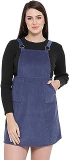 oxolloxo Women's Mini Dungaree (W19163WDR001_Blue)