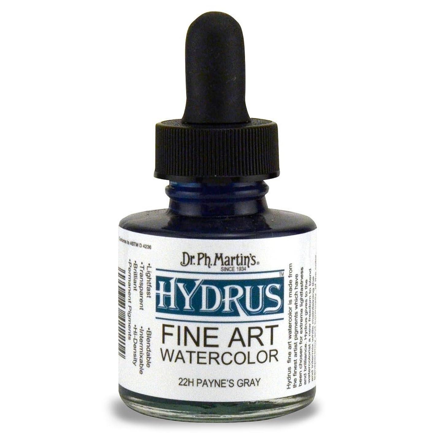 Dr. Ph. Martin's Hydrus Fine Art Watercolor, 1.0 oz, Payne'S Gray (22H)