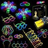 Halloween Pulseras Luminosas Fluorescentes, Segotendy 488pcs Barras...