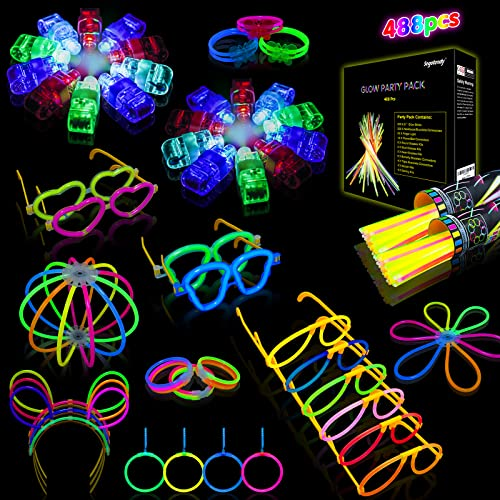 Halloween Pulseras Luminosas Fluorescentes, Segotendy 488pcs Barras Luminosas...