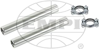 EMPI Stock Chrome Tail Pipe Kit With Clamps, Pair, Compatible With Bug, Beetle, Bus, Ghia, #9915