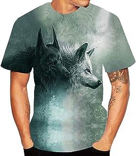 TWIFER Tシャツ メンズ 男性3DプリントTシャツ夏男性ファッション半袖ラウンドネックベーシックシャツLIMフィットフラッドスポーツレジャーシャツ美しいデザインソフト快適衣類ブラウス