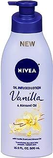 Nivea Lotion Oil-Infused Vanilla/Almond Oil 16.9 Ounce Pump (500ml) (2 Pack)