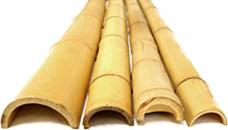 FOREVER BAMBOO 91-N381 3in D x 8' Bamboo Poles Half Rounds, 3