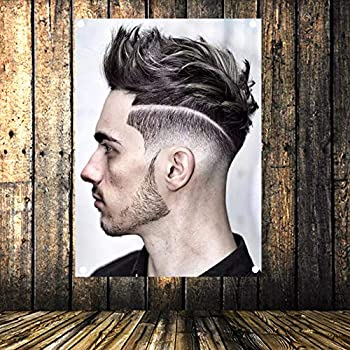 New Popular Men s Hairstyle Barber Shop Signboard Vintage Decor Hairdresser Poster Flag Banner Canvas Painting Hanging Cloth 96x144 cm  38X57 inches