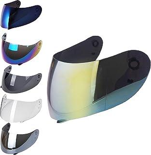 Iridium Visera para casco compatible con AGV K3 Sv K1 K5 K5s S4-Sv Horizon Stealth-Sv Skyline Strada Numo Aftermarket Oro Azul Espejo Arcobaleno Transparente Fume GT-2