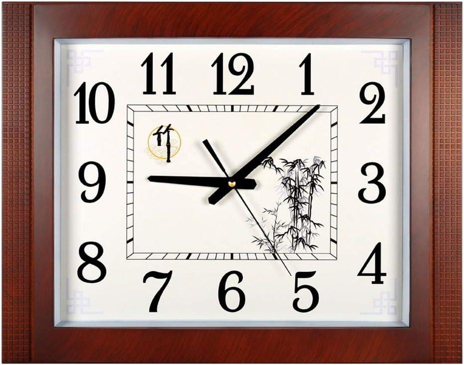 Reloj Pared Estilo chino sala de estar silenciosa pared grande reloj perpetuo calendario grande reloj de pared digital moderno calendario cuadrado reloj de cuarzo 20 pulgadas Reloj de Pared