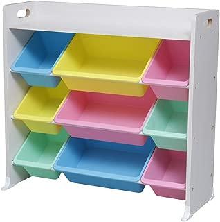 アイリスオーヤマ おもちゃ箱 天板付き パステル 幅86.3×奥行34.8×高さ79.5cm キッズ トイハウスラック TKTHR-39