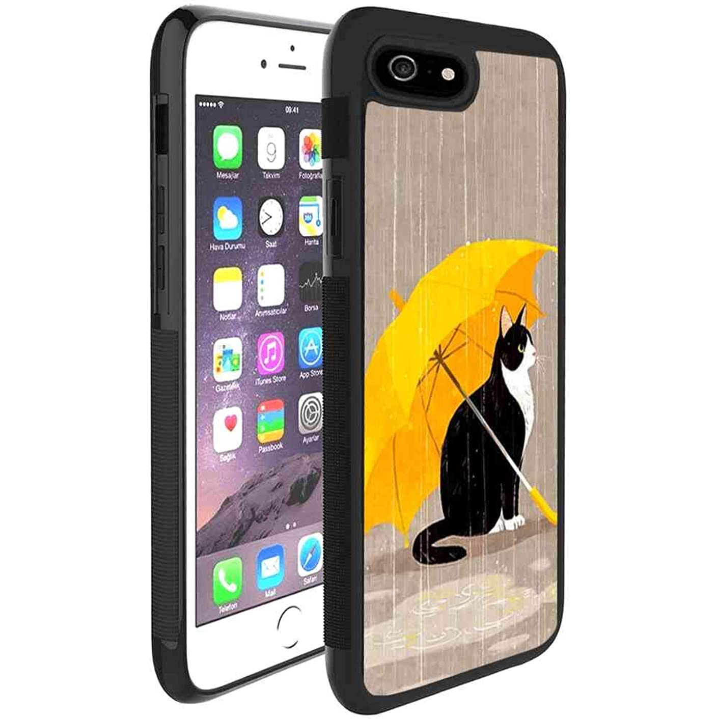 Cat with Umbrella Case Cover for Apple iPhone 6/iPhone 6S [4.7 Inch]
