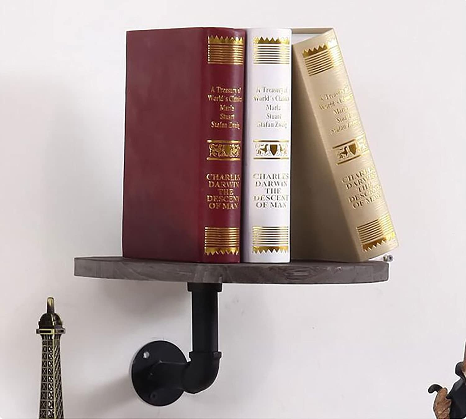 Decorative Accessories Wall Shelf European Wall Mount Bookshelf Wall Decoration Water Pipe Shelf Floating Shelves (Size   30CM)