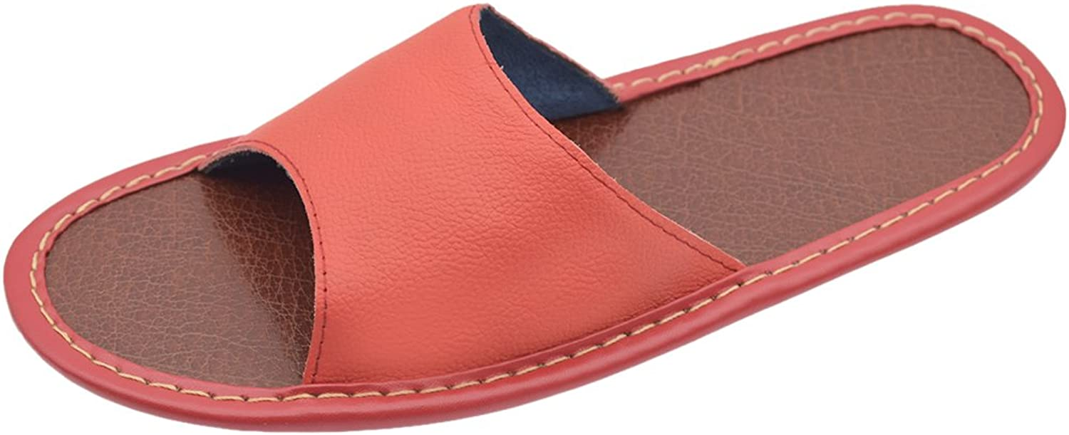 Maylian Summer Indoor House Genuine Leather Slippers for Women