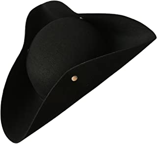 Simple Black Tricorn Hat (x)