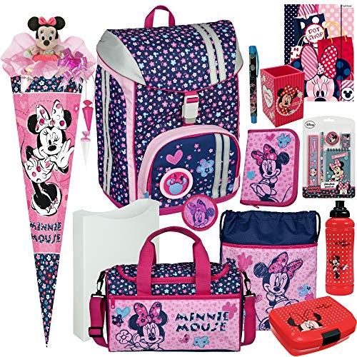 Minnie Mouse - Scooli FLEXMAX Schulranzen-Set 13tlg. mit FEDERMAPPE, Sporttasche, SCHULTÜTE und SCHULTÜTEN-SCHMUCK