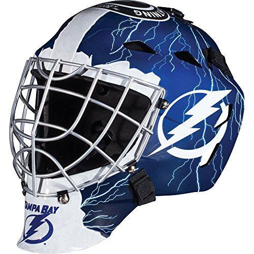 Franklin Sports NHL Tampa Bay Lightning Hockey Torwart Gesichtsmaske – Torwart Maske für Kinder Street Hockey – Jugend NHL Team Street Hockey Masken