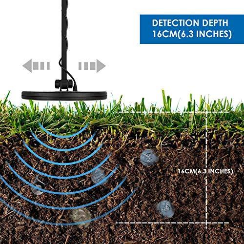 INTEY GC-1065 Detectores De Metales Ligero con Multifunción, Modos : Todo Metal y DISC - la Pantalla LED con Pala Plegable