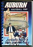 Auburn Tigers NCAA Football Team Media Guide-1989-pix-stats-info-VG