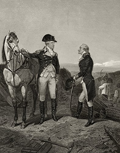 BrainBoosters Primeira reunião de George Washington 1732 a 1799 com Alexander Hamilton 1755 ou 1757 a 1804 após Alonzo Chappel de L Poster Print44; 61 x 76 cm