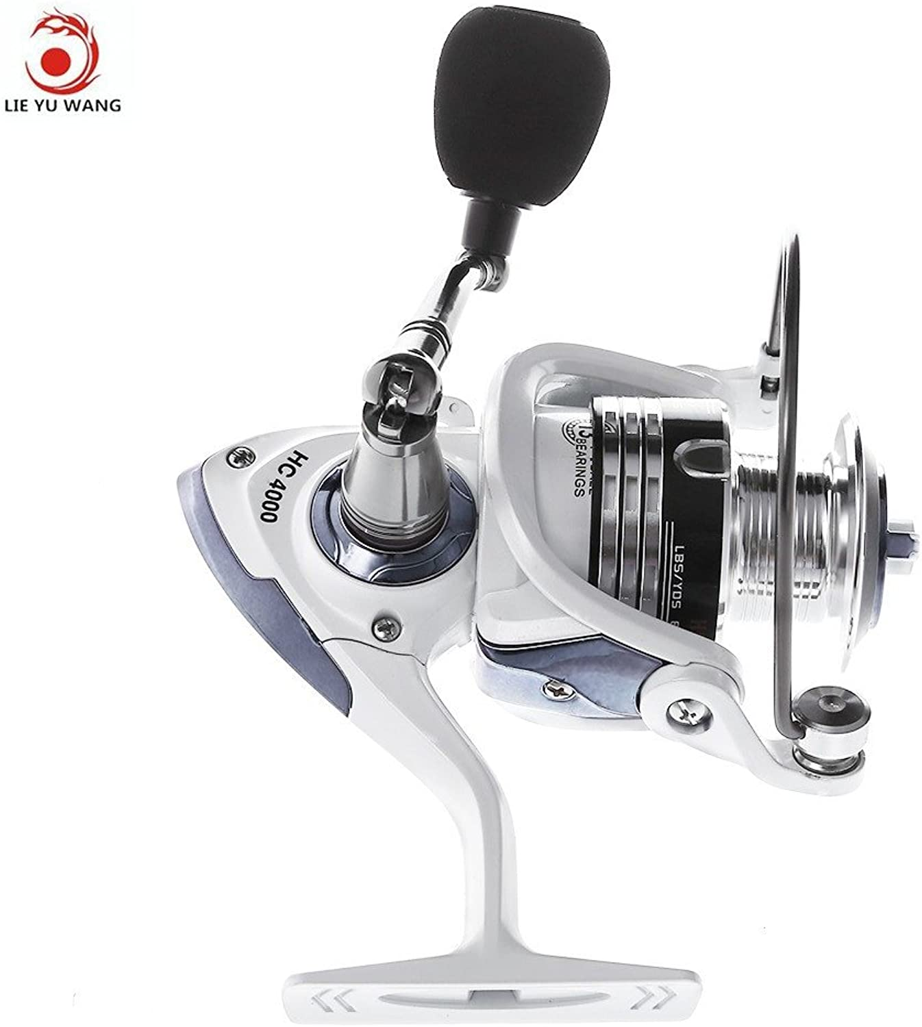 Spinning Reel, White 13 Ball Bearing Oneway Clutch Saltwater Fish Reel, Hc4000