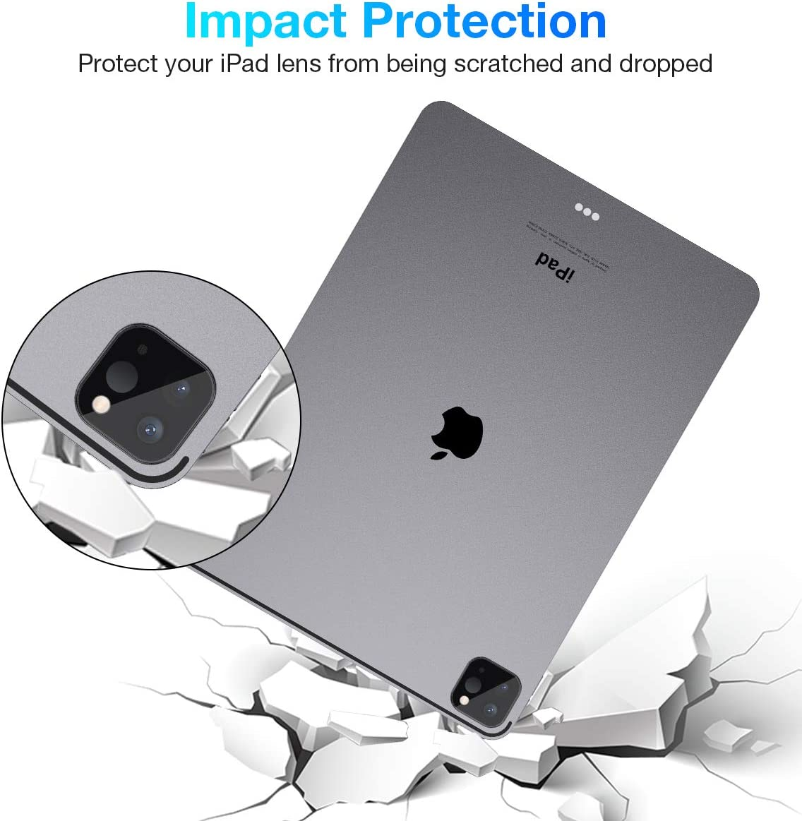[3 Pack] Tensea for iPad Pro 12.9 11 2020 & 2021 Camera Lens Screen Protector, Anti-Overexposure Design, Tempered Glass iPad Pro 12.9 11 inch Screen Protector for Camera Lens, HD Clear, 3 Pack