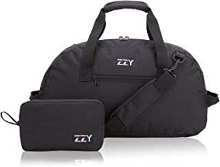 Foldable Duffel Bag for Travel Duffels Lightweight with Durable Nylon (Black-35L)