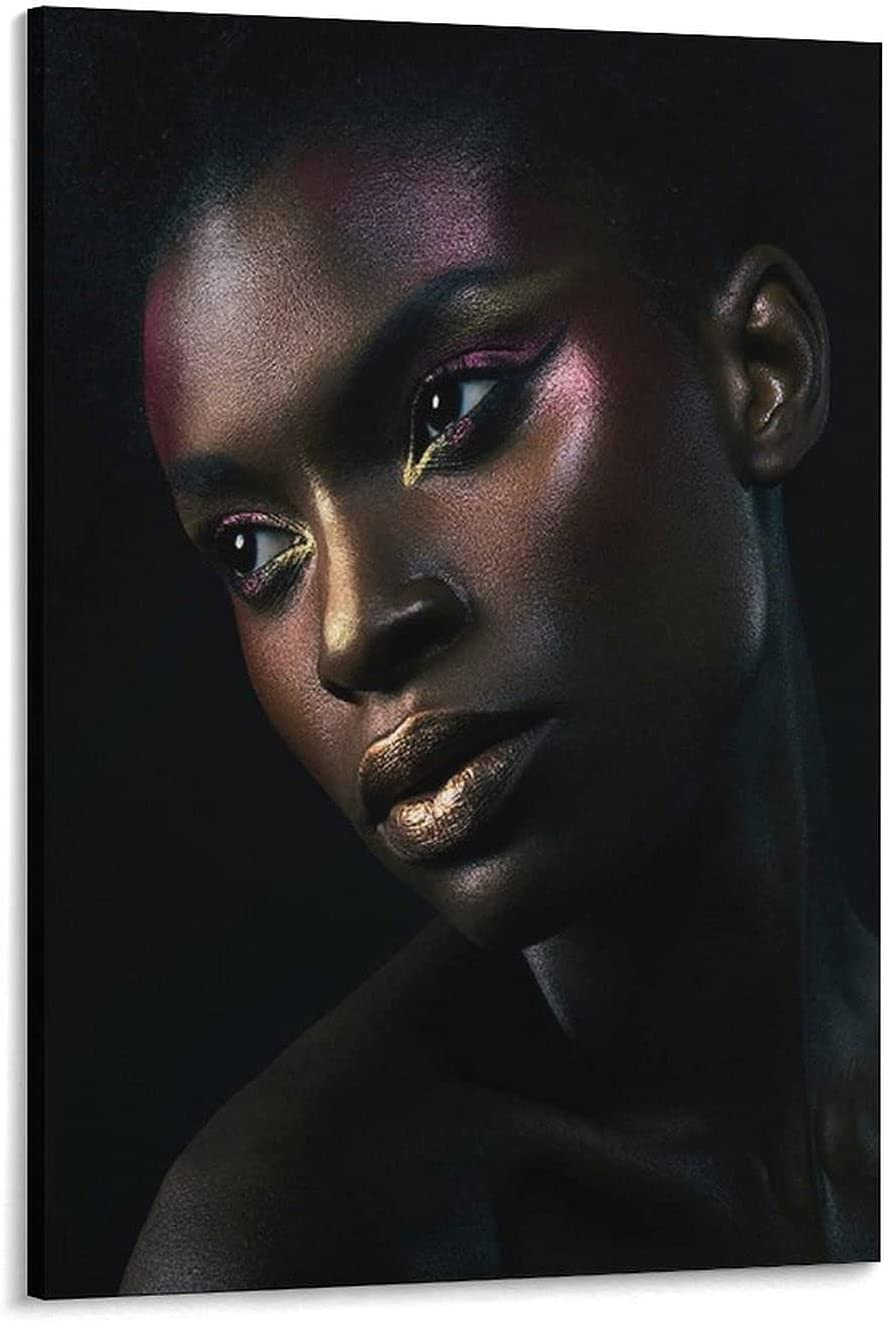 African NEW Black Max 85% OFF Woman Photography Background Art Poster P D2