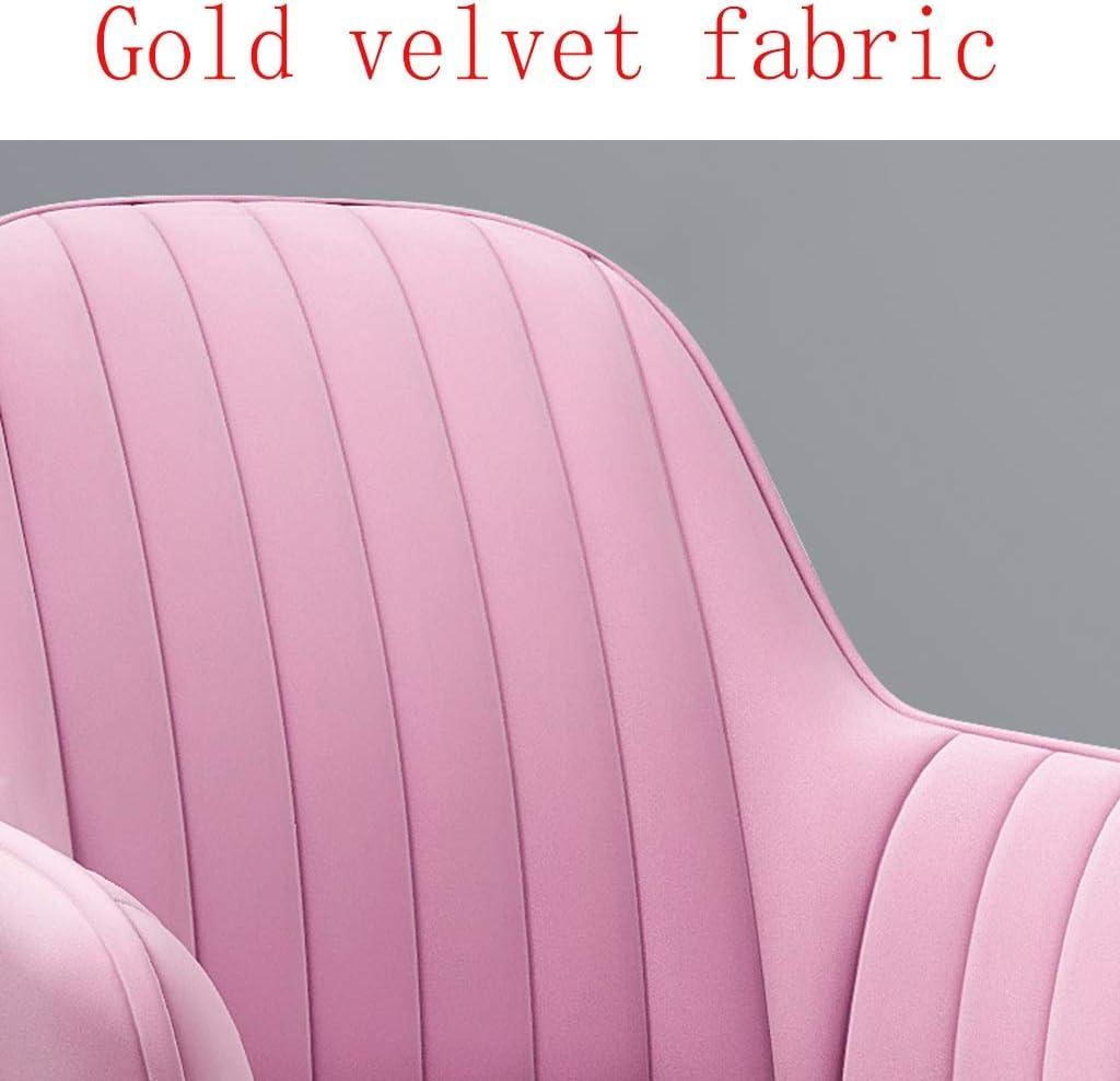 HEJINXL Hauteur Ajustable Chaise Cuisine Haute Chaise Longue, Chaise Ordinateur Maison Avec Coussin Velours Amovible Pivotant 360 Roulette Mobile Jaune chaise cuisine (Color : E) C
