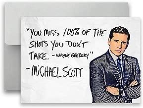 Michael Scott The Office Card Wayne Gretzky Flat Postcard 5x7 inches w/Envelope