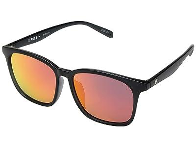 Spy Optic Cooler (Matte Trans Gray/Gray/Coral Mirror) Fashion Sunglasses