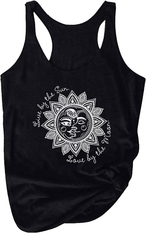 Fashion Women's Summer Letter Print O Neck Sleeveless Casual T-Shirt Top Tank