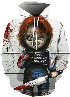 DDGFX Movie Clown Stephen King 1990 Horror Movie Hoodie Sweatshirt Cosplay Tracksuit Sweatshirt Print Men 3D Clown