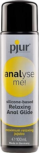 pjur analyse me! Relaxing Silicone Anal Glide - Lubricante silicona para sexo anal cómodo - lubricación extralarga - ...