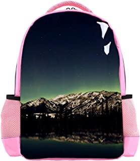 Northen Lights Over A Lake Backpack Kids School Book Bags for Elementary Primary Schooler
