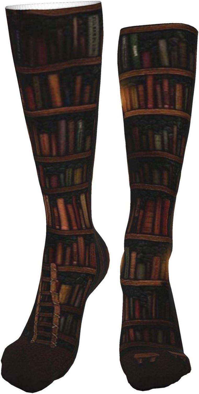 Magical Bookish Women Premium High Socks, Stocking High Leg Warmer Sockings Crew Sock For Daily And Work