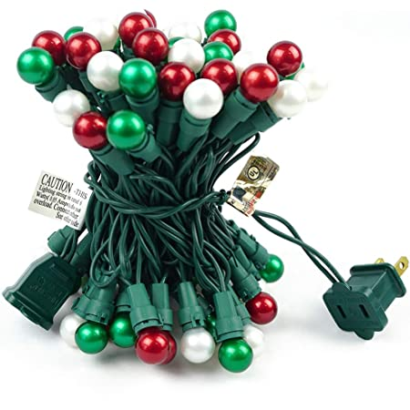 BOHON Christmas Lights Indoor 19FT 70 LED Outdoor String Lights with Pearlized Glass Bulbs UL Certified Globe String Lights Multi Color for Holiday Party Halloween Tree Decor