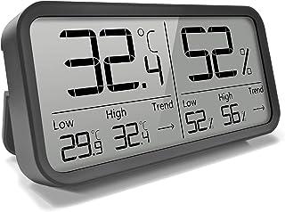 AngLink Thermomètre Hygromètre Intérieur Numérique à Haute Précision,℃/℉Commutable, Thermo Hygromètre Indicateur du Maison...