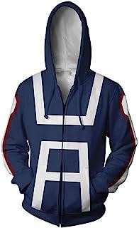 My Hero Academia Izuku Midoriya Hooded Zipper Jacket Sweatshirt Boku No Hero Academia Cosplay Costume Hoodies Unisex