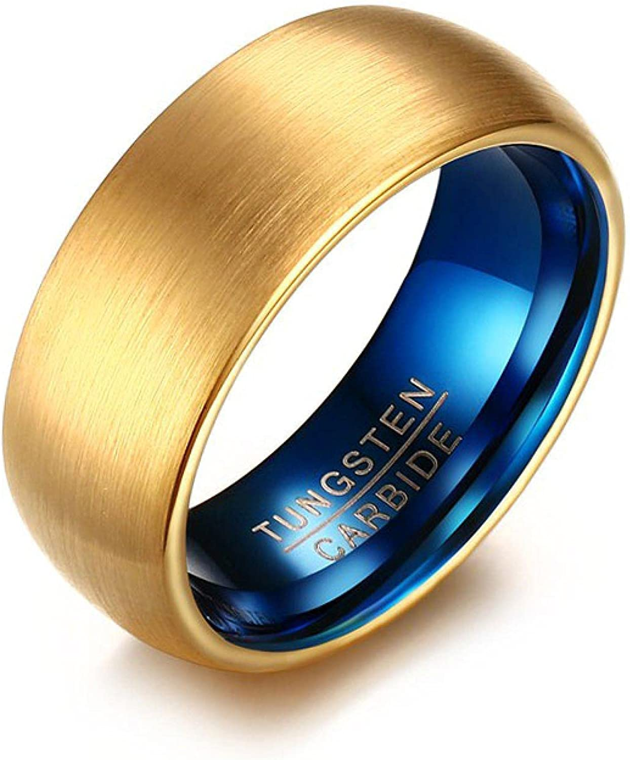 Men's Blue Product Tungsten Ring Classical Men Free Shipping New Gold-color Rings