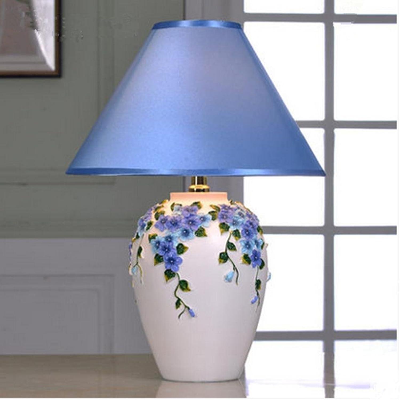 OOFWY Europäische Hochzeits-Tabellen-Lampen-Garten-Art-Luxuxwarmes Schlafzimmer-Wohnzimmer-Nachttisch-kreative Art- und Weisedekorative Lampe, a B074CSMVKJ     | Wirtschaft