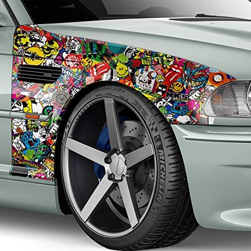 30x150cm Stickerbomb Auto Folie Glanz - Sticker Logo Bomb - JDM Aufkleber - Design: SDG