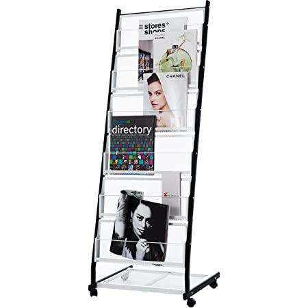 Color : White, Size : 127.5x63.5x36cm Ybriefbag-Office Mobile Literature Display Rack Floor Standing Literature Rack Sign Frame