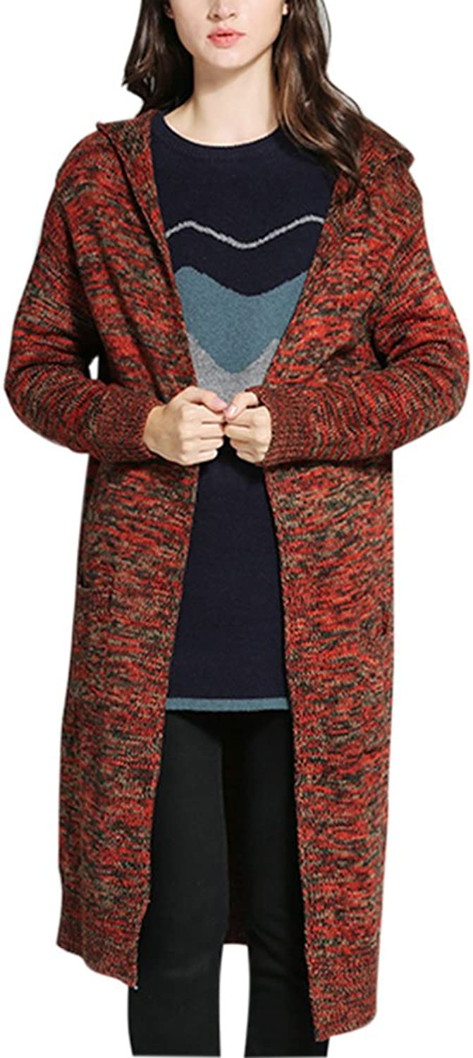 Gordon Q Women's Casual Knitted Sweater Cozy Fit hoodie Cardigan Tops