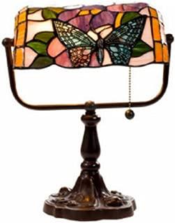 Warehouse of Tiffany's KS61MB51 Tiffany Style Banker Butterfly Desk Lamp, 10